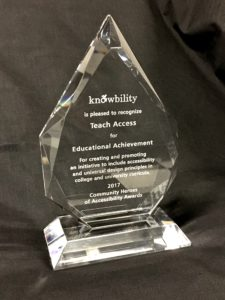 Knowbility's Heroes of Accessibility Award