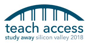 Logo for Teach Access Study Away Silicon Valley 2018