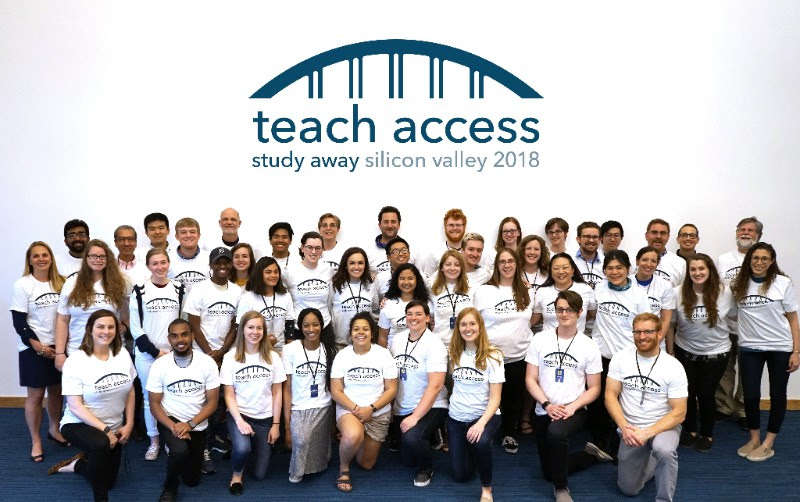 Group photo from Study Away Silicon Valley 2018