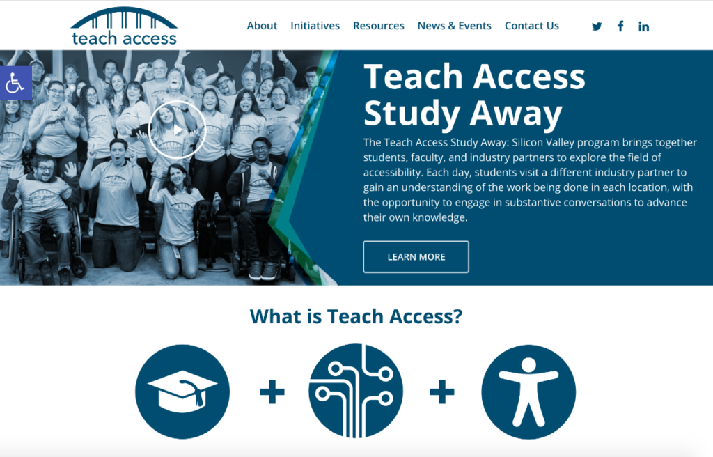 Teach Access home page